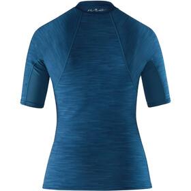 NRS HydroSkin 0.5 Shortsleeve Shirt Women moroccan blue